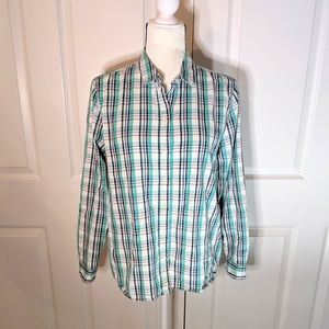 Gap boyfriend fit blouse w/ rolltab sleeves Small